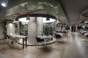 Doğuş Center Restaurant Gergi Tavan ve LED Aydınlatma Uygulamaları