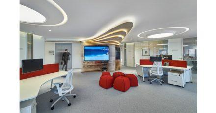 Bain&Company Akmerkez Gergi Tavan ve LED Aydınlatma Uygulamaları